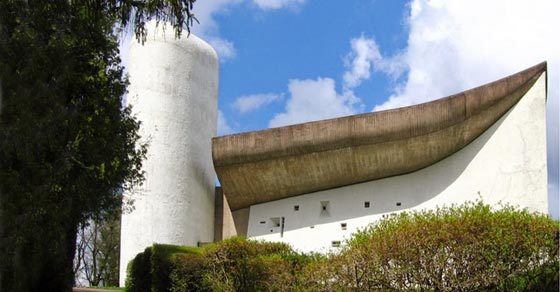 Le Corbusier's chapel was the source of inspiration of Romanian National Theatre in Bucharest