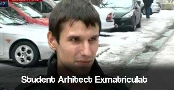 Dan Alecsandru, studentul la arhitectură exmatriculat