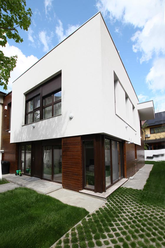 Our contemporary design for this small home